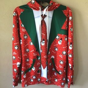 Mr Bao Long & Miss Go Merry Christmas Hoodie Sz L